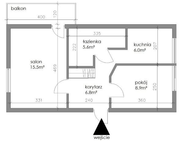 Wilanów Mokotów sprzedam mieszkanie 2 pokoje