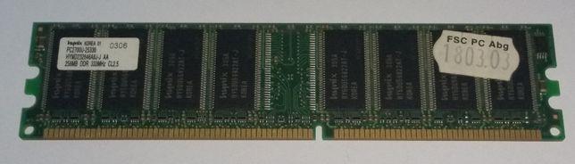 256MB Memória RAM DDR 333 PC 2700 CL2.5 Hynix