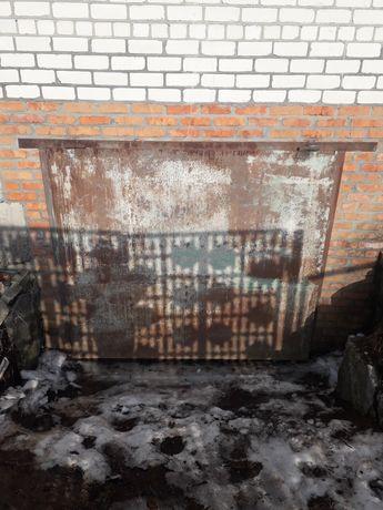 Ворота металлические на гараж