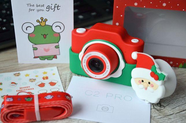 Детский фотоаппарат видеокамера с WiFi, наклейками, с microSD, игрушка