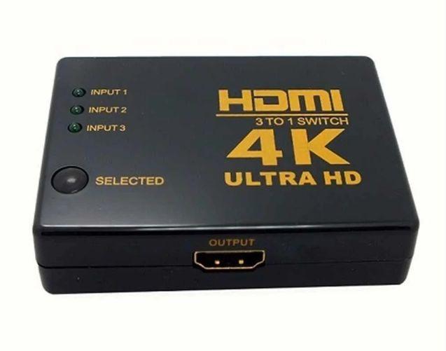 HDMI 4K переключатель свитч сплиттер 3 источника=1 экран монитор Николаев - изображение 1