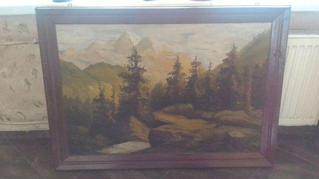 Obraz na plutnie krajobraz górzysty Jutrzenka z 1958r