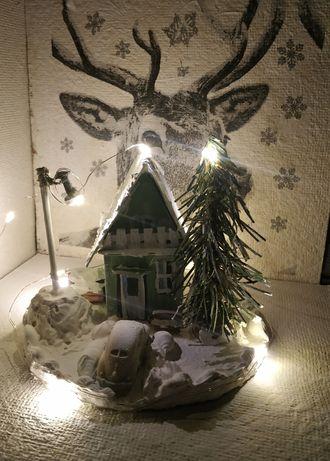 Домик зимний новогодний