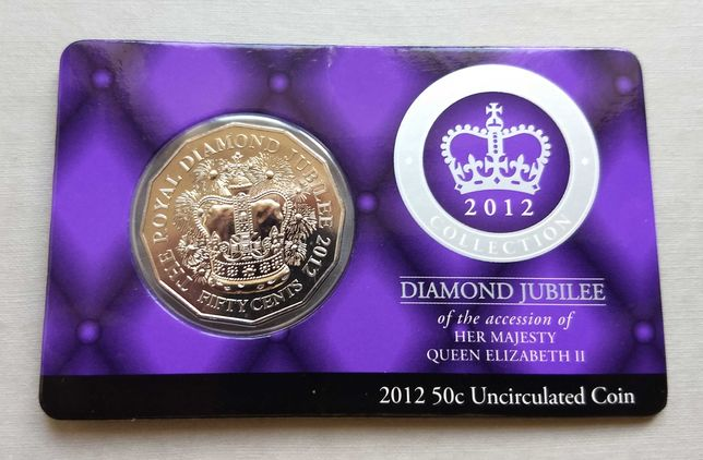 50 центов Австралия 2012 - Елизавета II - бриллиантовый юбилей.
