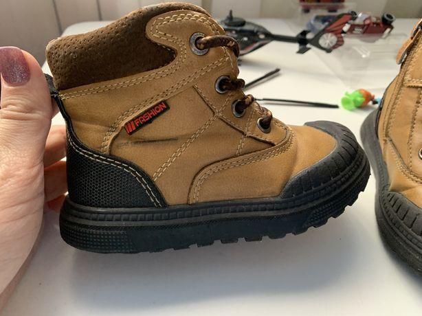 Демисезонные ботинки с резиновым носком