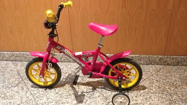 Bicicleta criança bombeiros
