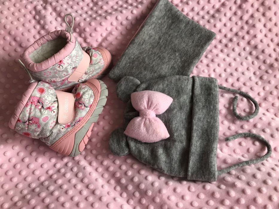 Зимові чобітки шапка снуд / зимние сапожки Тернополь - изображение 1