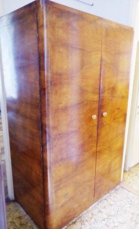 Szafa 2-drzwiowa z pięknym fornirem - lata 60-te