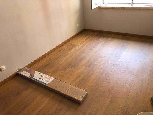 Instalação de piso flutuante