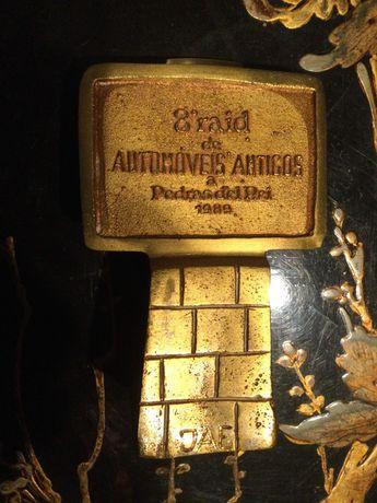 Troféu Automóveis Antigos Bronze 12,5 cm 700 gr Assinado M Lucena