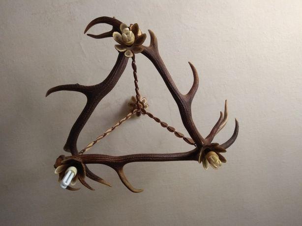 Żyrandol z poroży jelenia