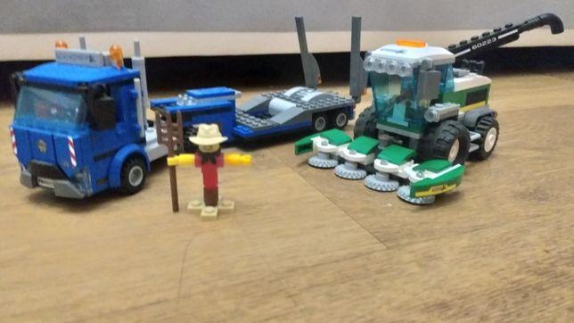 "LEGO KLOCKI ""polocja, kombajn, tir, motocykl, quad, farma, radiowóz"""