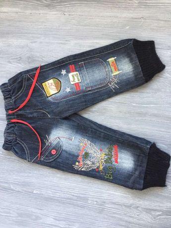 Детские джинсовые штанишки, на 3-4 года