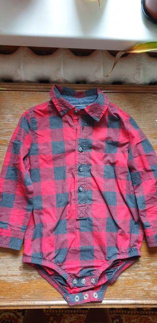 Костюм 18-24 нарядный рубашка боди штаны подтяжки Oshkosh