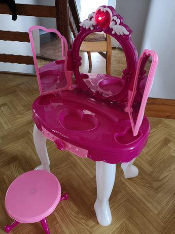 Toaletka różowa dla dziewczynki, gra i świeci