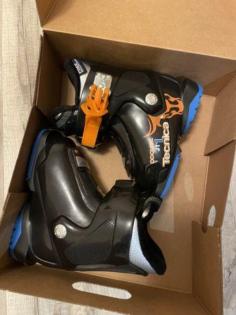 Детские лыжные ботинки Tecnica JT 1 COCHISE Black, 22-22,5 ( 14 см )