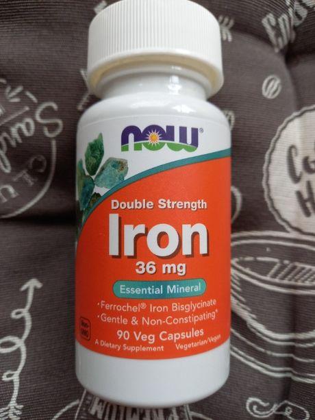 Железо 36 мг, Now Foods, 90 капс. Iron double strength