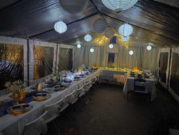 Namioty Wynajem wypożyczalnia namiotów imprezowych zastawy stołowej