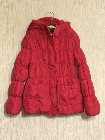 Курточка для девочки 104см. утепленная на синтапоне и флисе
