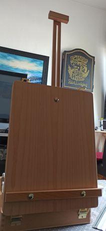 Mala/Cavalete de Pintura Quadros e Armazenamento