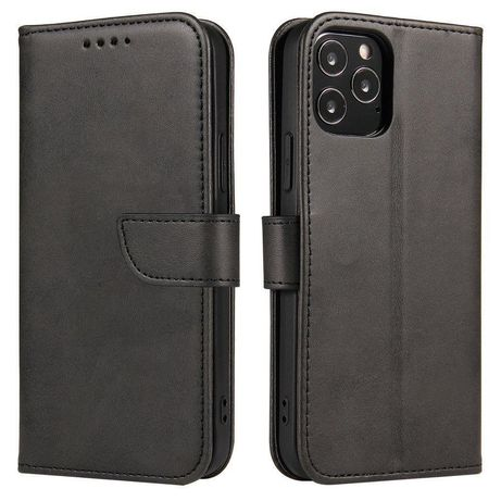 Capa Magnética Case Elegant Bookcase Type Case Kickstand Realme 7 Pro Preto