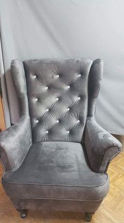 Fotel uszak z kryształkami