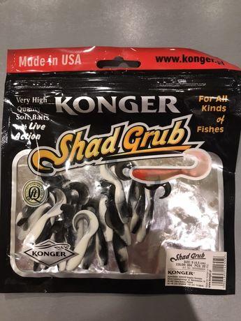 Przynęta Konger Shad Grub. 4,5 cm kolor 004, 20 sztuk, 2 opakowania