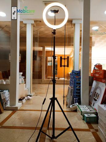 Mega preço ring light 26cm + tripé 2.10m - loja física Lisboa e Odivel
