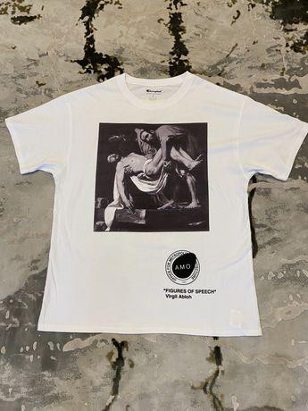 Футболка кофта, свитшот Virgil Abloh, Champion Pyrex off white