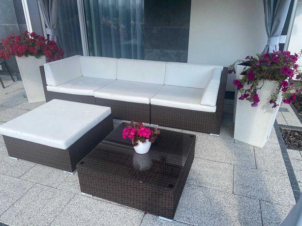 Zestaw mebli ogrodowych ARTELIA technorattan 2x leżanka stoliki kanapa