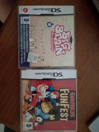 jogos Nintendo DS Garfield e Big Brain Academy