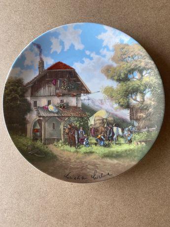 Винтаж:,Панно тарелки фарфоровые декоративные коллекционные настенные.