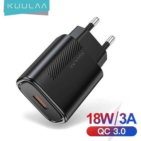 Сетевое Зарядное Устройство, блок ЗУ KUULAA 18W USB Fast Charge