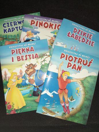 Książki książeczki dla dzieci,  Piotruś Pan, Pinokio, piękna i bestia,