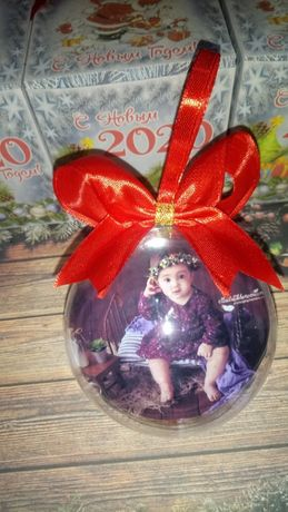Игрушка на елку с фото,елочный шар с фото,новогодний подарок