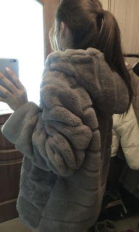futro Płaszcz z eko sztucznego futra kurtka
