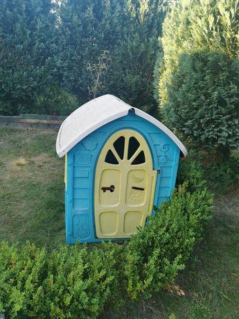 Domek ogrodowy dla dzieci, plastikowy 120x100x90 cm