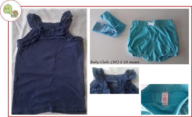 12-18M Menina, Primavera/ Verão - blusas e vestidos