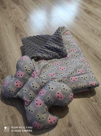 Kocyk + poduszka Minky