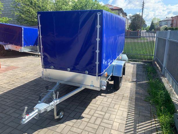 Przyczepka przyczepa samochodowa DMC 750 kg, wzmacniana, 3,00 x 1,25
