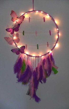 Caça-Sonhos Borboletas luz led