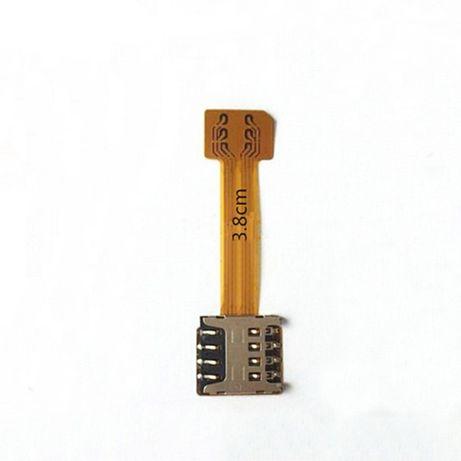 Гибридный Micro(Nano) SIM-Micro SD адаптер для 2-х сим карт в смартфон