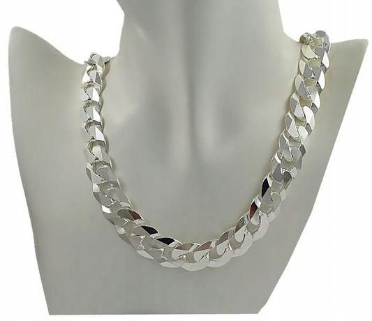 Łańcuch Srebrny Szeroki 1,6 cm. Nowy z Metką 100% Srebro / - 50%