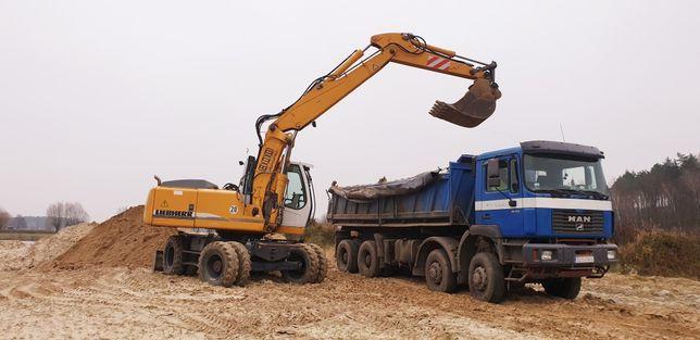 Wywóz ziemi gruzu prace ziemne wyburzenia utwardzanie gruntu transport