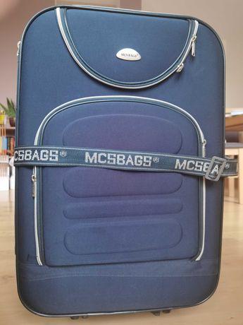 Walizka duża na kółkach bardzo pojemna pakowna waliza