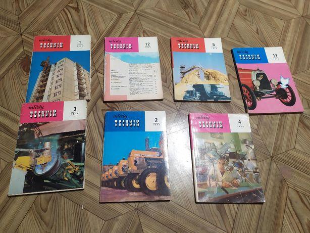 Młody technik 1973-74, zestaw 7 numerów
