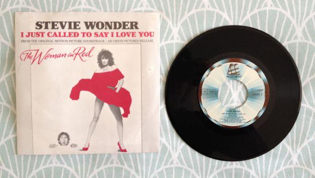 "Disco Vinil ""Stevie Wonder - I Just Called To Say I Love You"""