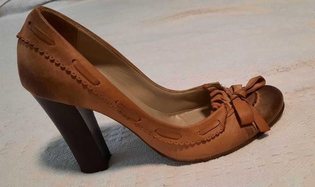 Туфлі шкіряні жіночі, ручна робота, Італія