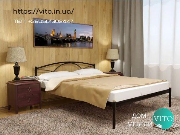 Кровать двуспальная с доставкой металлическая глория.Лiжко