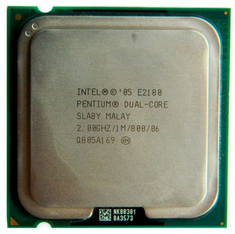 Процессор Intel Pentium Dual-Core E2180 (s775, 2.0 ГГц) 250 рублей
